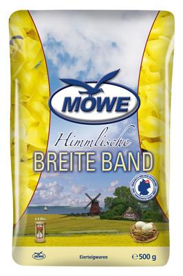 """Produktbild Möwe Teigwaren """"Himmlische Nudeln ..."""" Breite Band 500 g"""