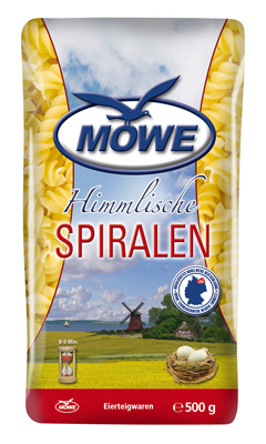 """Produktbild Möwe Teigwaren """"Himmlische Nudeln ..."""" Spiralen 500 g"""