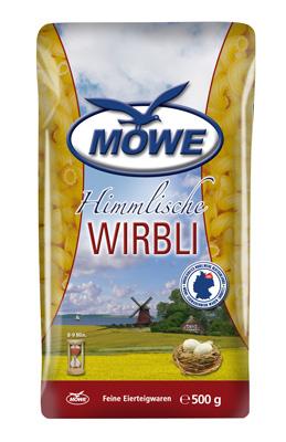"""Produktbild Möwe Teigwaren """"Himmlische Nudeln ..."""" Wirbli 500 g"""