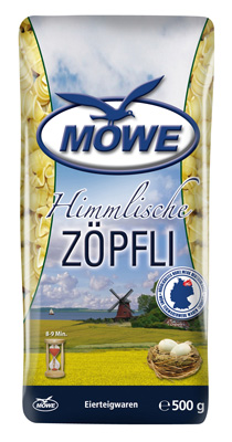 "Produktbild Möwe Teigwaren ""Himmlische Nudeln ..."" Zöpfli 500 g"