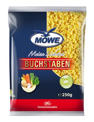 """Produktbild Möwe-Teigwaren """"Meine Liebsten ..."""" Buchstaben 250 g"""