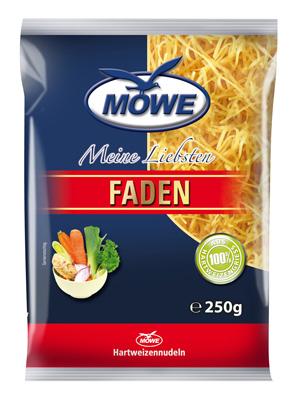 "Produktbild Möwe-Teigwaren ""Meine Liebsten ..."" Faden 250 g"