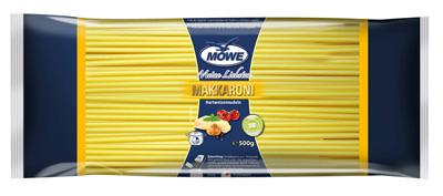 "Produktbild Möwe-Teigwaren ""Meine Liebsten ...""  Makkaroni 500 g"