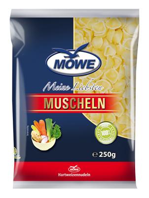 "Produktbild Möwe-Teigwaren ""Meine Liebsten ..."" Muscheln 250 g"
