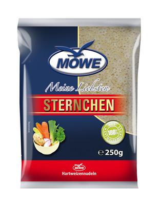 """Produktbild Möwe-Teigwaren """"Meine Liebsten ..."""" Sternchen 250 g"""