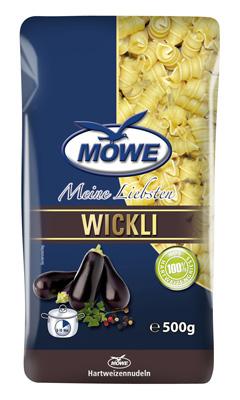 """Produktbild Möwe-Teigwaren """"Meine Liebsten ..."""" Wickli 500 g"""